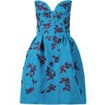 Oscar de la Renta Embellished Strapless Dress
