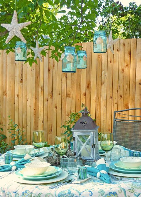 Superieur Beach Themed Backyard Party ~ From Creating Wonderful Spaces