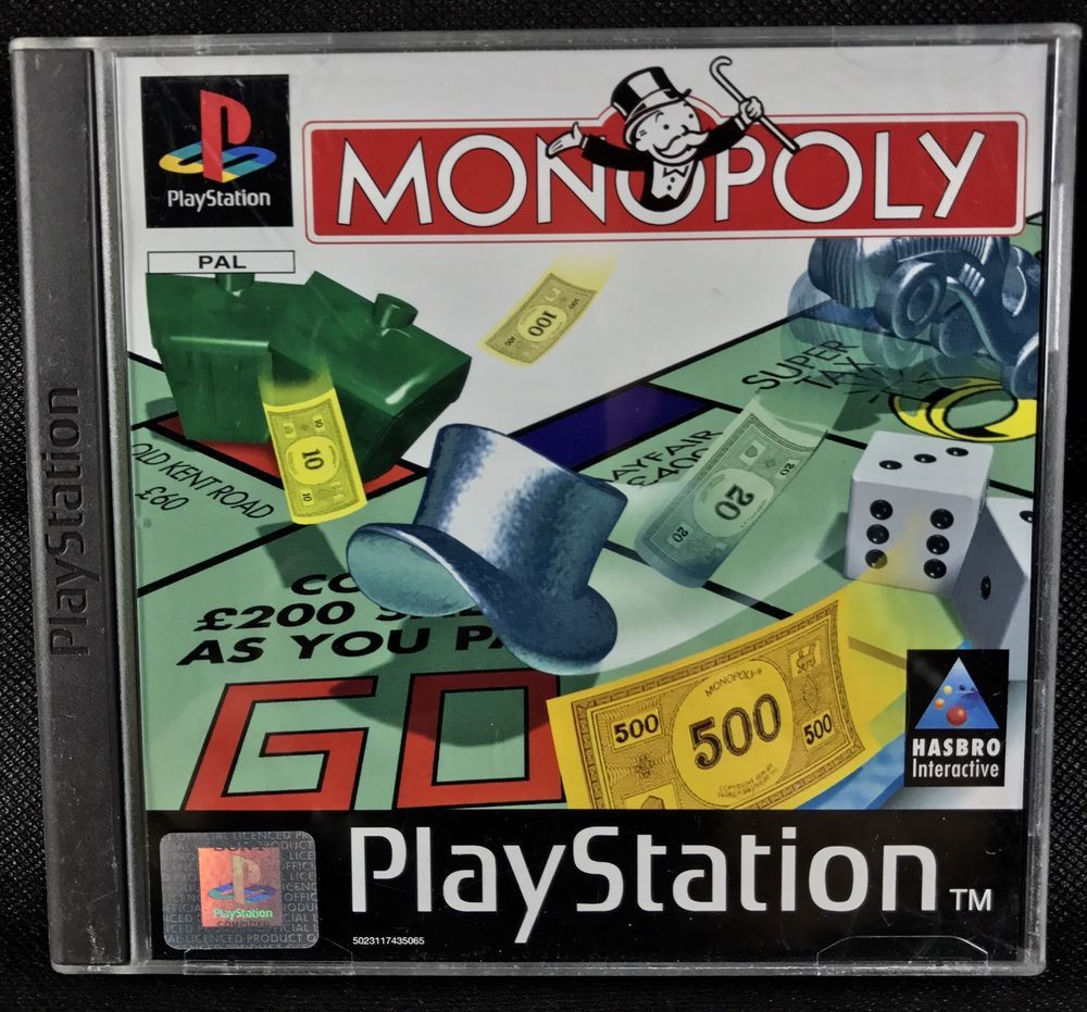 Monopoly Sony PlayStation 1 Ps1 Console video Games
