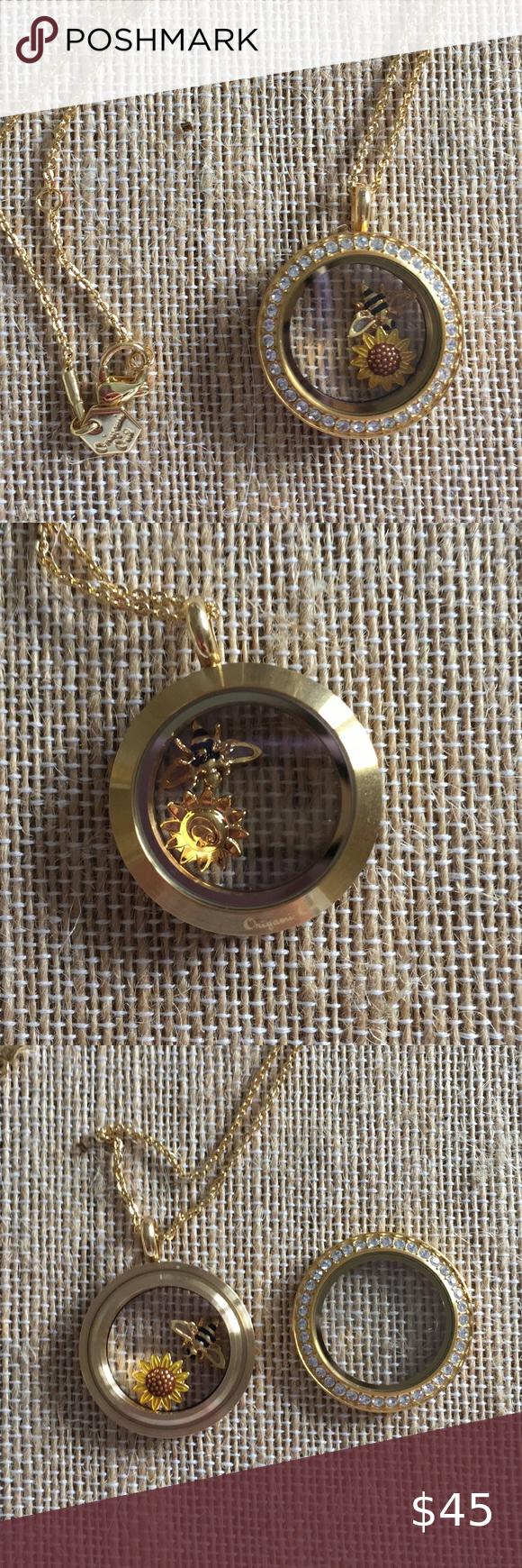 Photo of Origami Owl gold locket necklace Beautiful gold origami Owl medium twist face pl…
