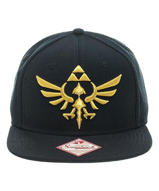 e31f22171 The Legend of Zelda Black Crest Snapback Baseball Cap - Adult ...