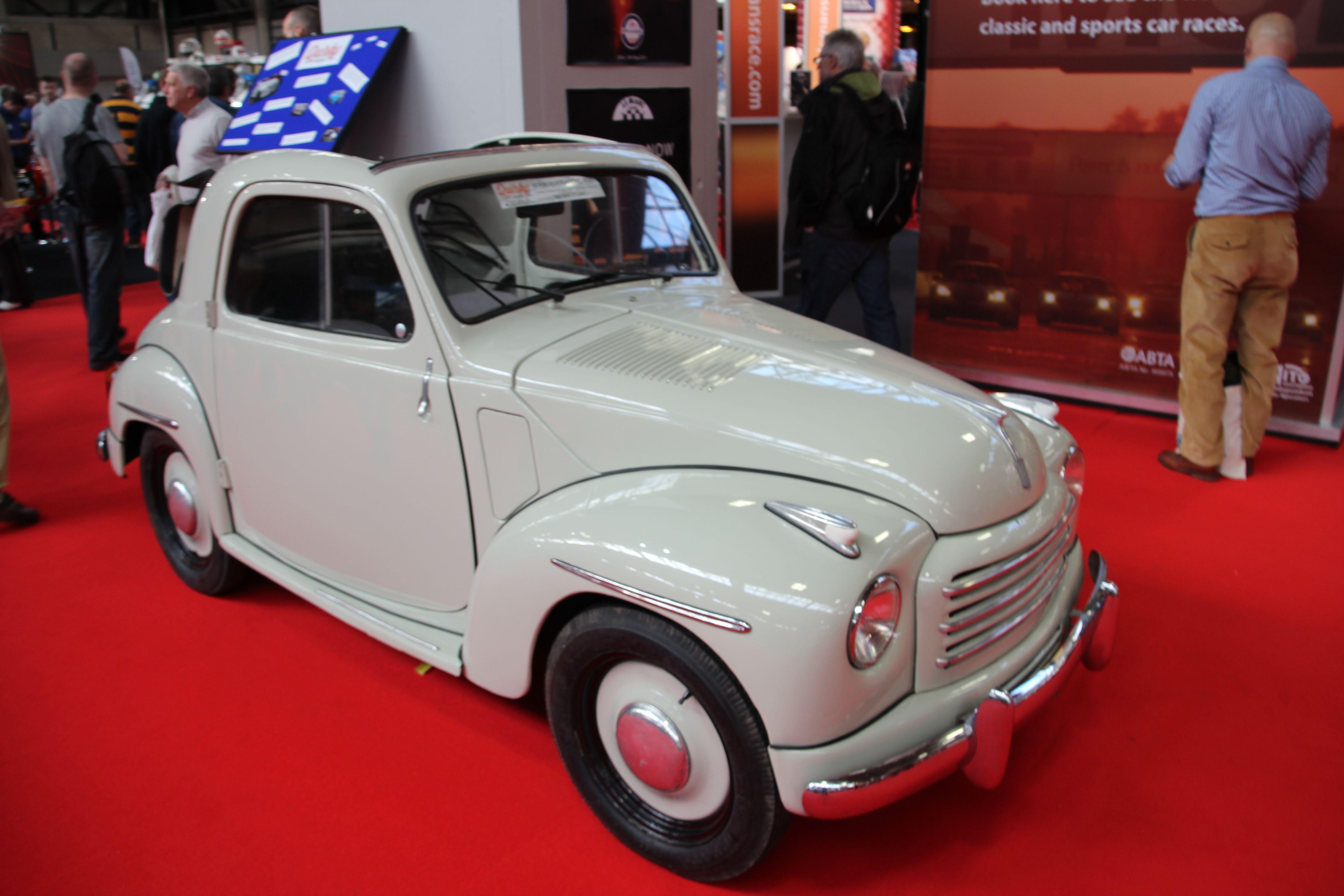Quirky Rides Fiat Topolino C At The NEC Classic Car Show - Car show england