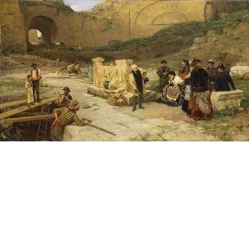 Ferdinand Heilbuth (1826 - 1889) Excavations in Rome