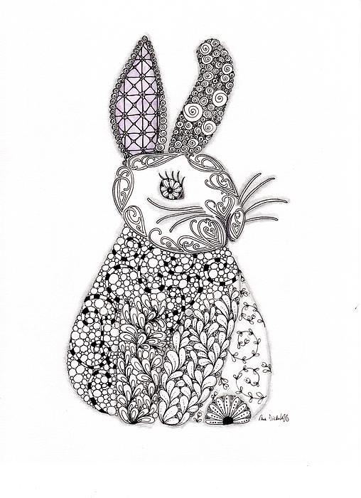 Bunny Too Drawing | Henna | Pinterest