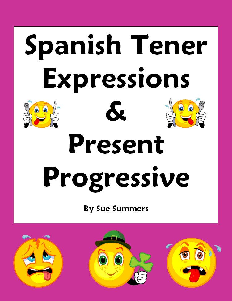 Spanish Tener Expressions and Present Progressive Worksheet – Tener Expressions Worksheet