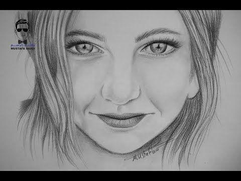 تعليم الرسم بالرصاص شرح نسب وجه الانسان من الجانب في مستوى النظر Youtube Pencil Portrait Drawings Flower Drawing