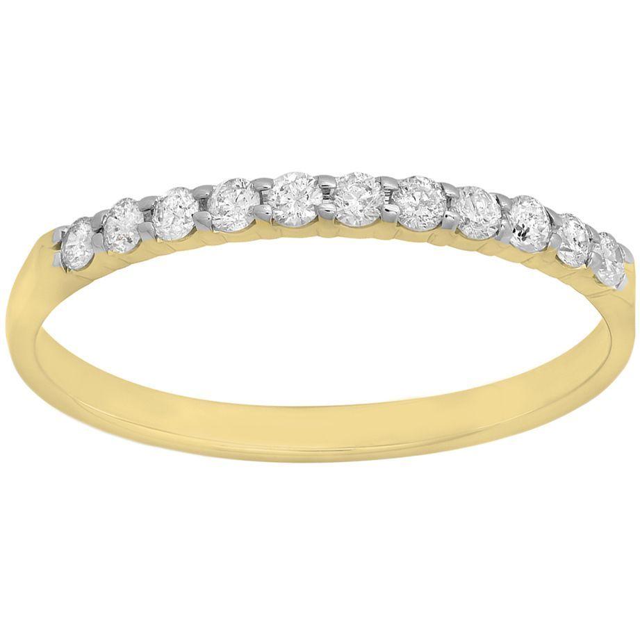 Elora 14k Gold 15ct TDW Diamond Wedding Ring Stackable Band IJ