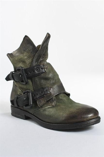 Syracuse Boot In Green Obuv Boho Kozha