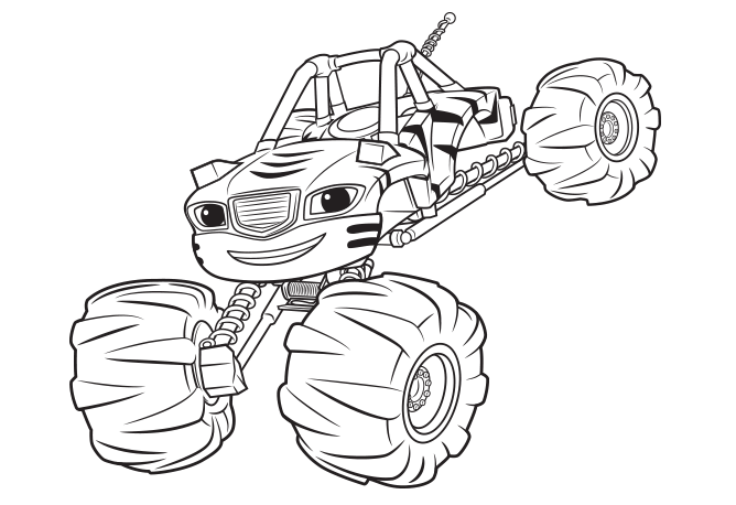 Blaze And The Monster Machines Coloring Pages Monster Truck Coloring Pages Monster Coloring Pages Tractor Coloring Pages