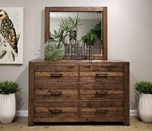 Roundhill Furniture Dajono Rustic 6Piece Bedroom Set