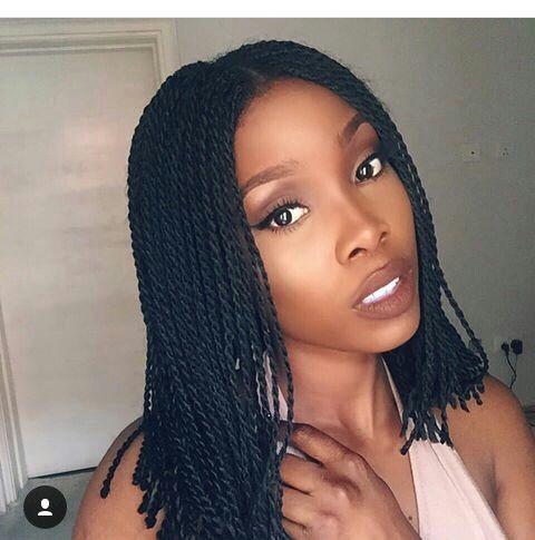african braids short box braids vs twist  modèles de