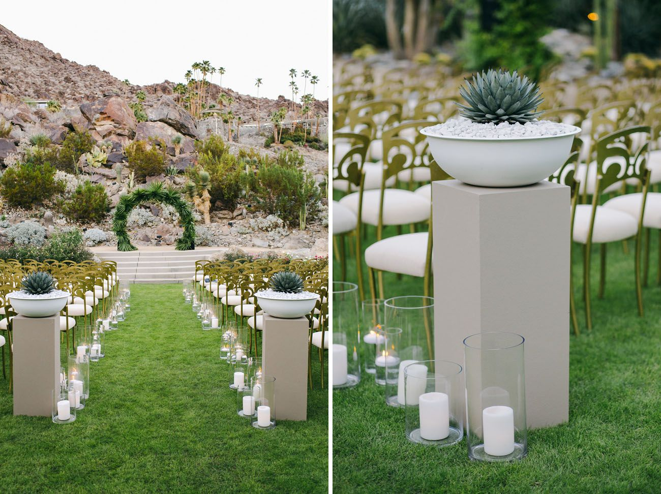 Decent Whitney Port Such A Palm Springs Ceremony Stones Floral Design Acting As Whitney Port Tim Wedding Whitney Port Wedding Atropical Arch By Sticks wedding Whitney Port Wedding