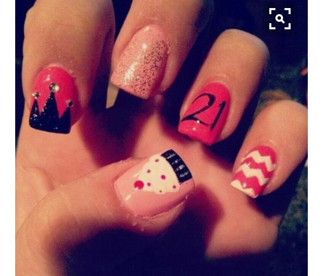 birthday nail art is quite a popular choice of nail art for the occasion of birthday - Hot Designs Nail Art Ideas