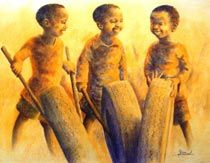 African Art by South African Artist Jerry Lion | Fine Art Portfolio