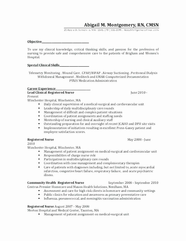 M Sc Nursing Registered nurse resume, Nursing resume
