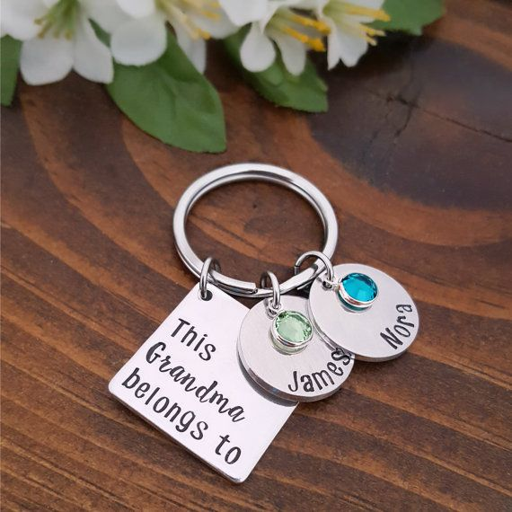Grandma to Be disc Stainless Steel Keyring Handbag Charm with Gift Box