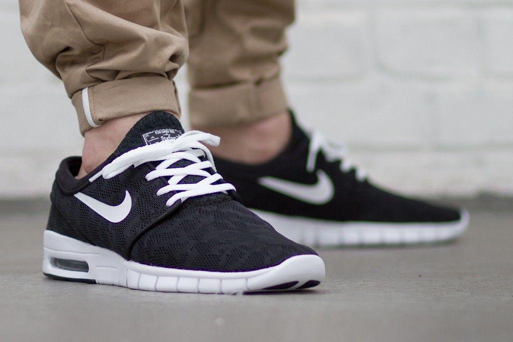 Nike Sb Janoski Max Grey/Black/White Suede