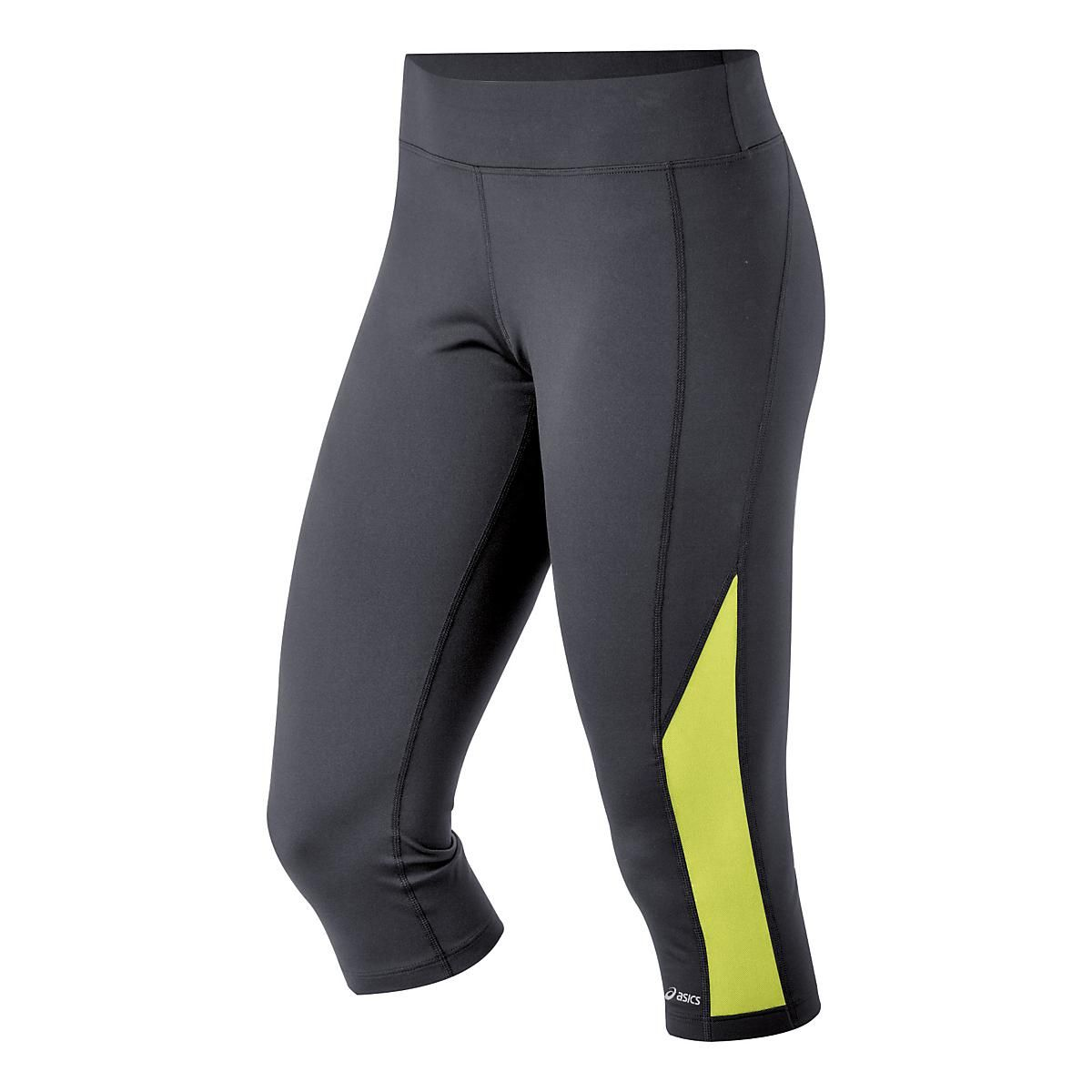 Sleek, sexy, and savvy: our ASICS PR Capri running pants offer a flattering, form-fitting fit; clean color options that are easy to love; and premium performance features like breathable Power Mesh inserts and a zipped stash pocket to take your valuables on the go while you run your booty off