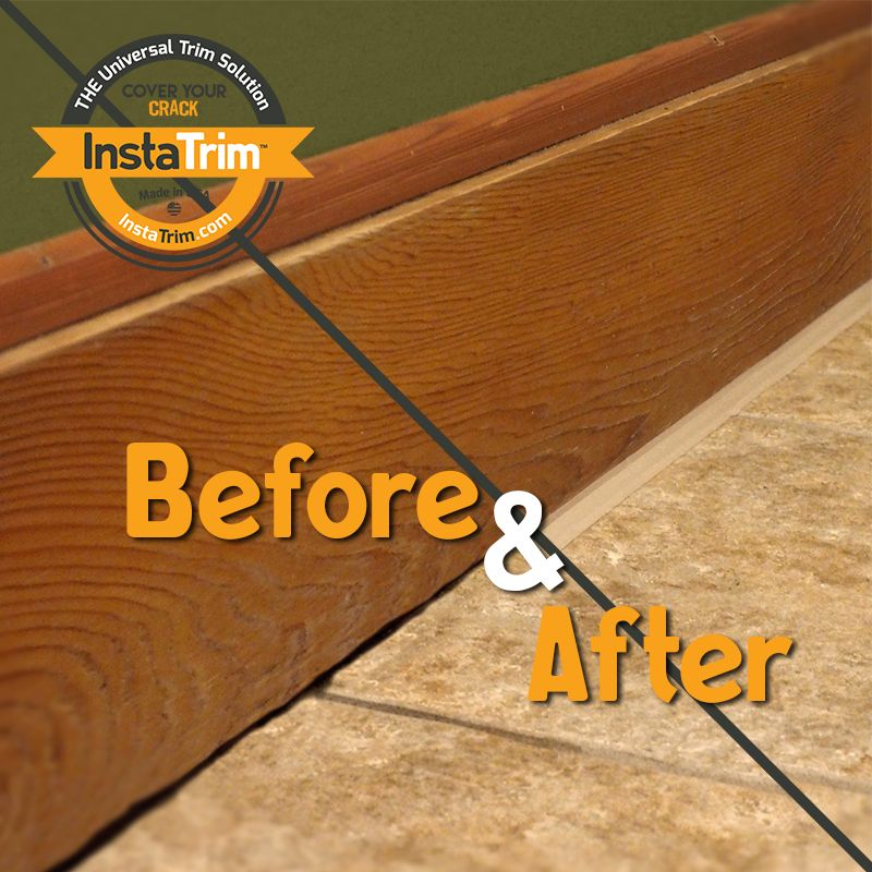 Seal Baseboards To Keep Out Dirt And Pests Using Instatrim Instead Of Caulk Caulk Baseboards Baseboards Uneven Floor
