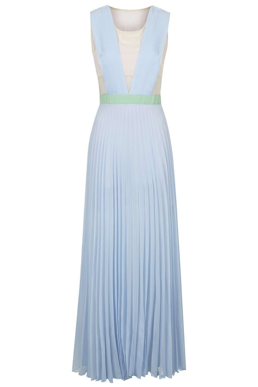 Long pleated dress uk