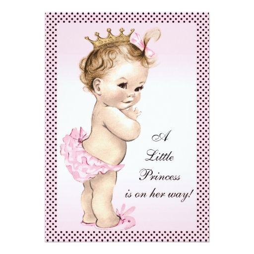 Cute vintage princess baby shower card princess baby showers cute vintage princess baby shower card filmwisefo