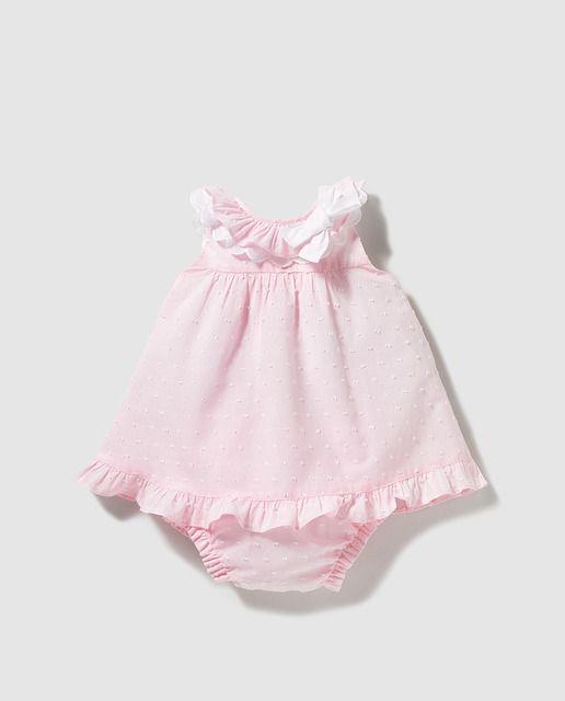 07930723c Vestido plumeti de bebé niña Dulces en rosa | Moda bebes | Vestidos ...