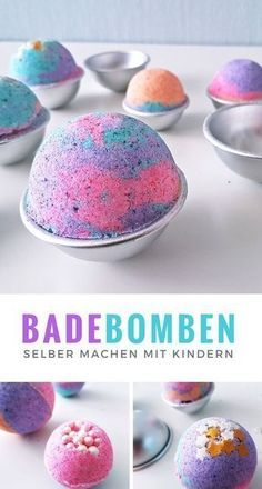 Anleitung: Sprudelnde bunte Badekugeln für Kinder herstellen #bathingbeauties