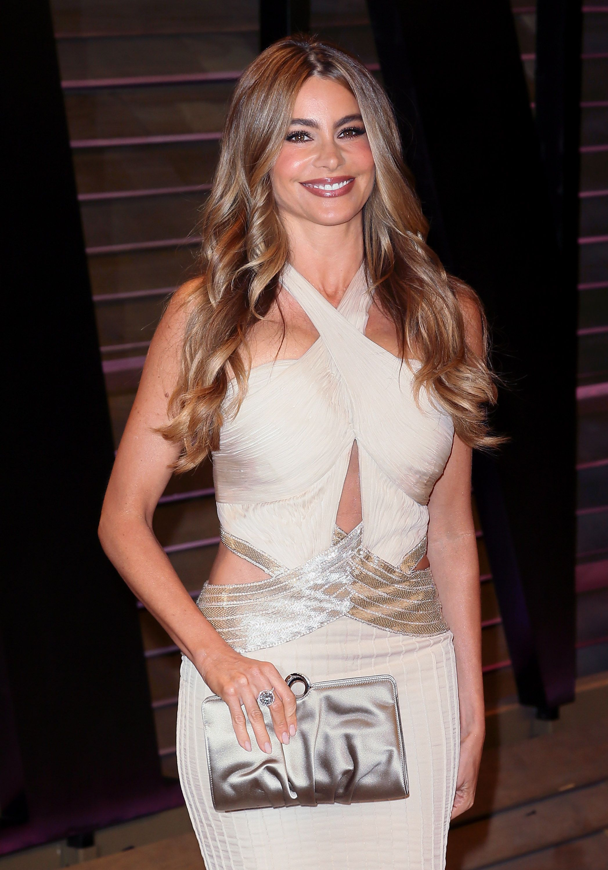 Sofia Vergara carrying RODO to the 2014 Vanity Fair Oscar