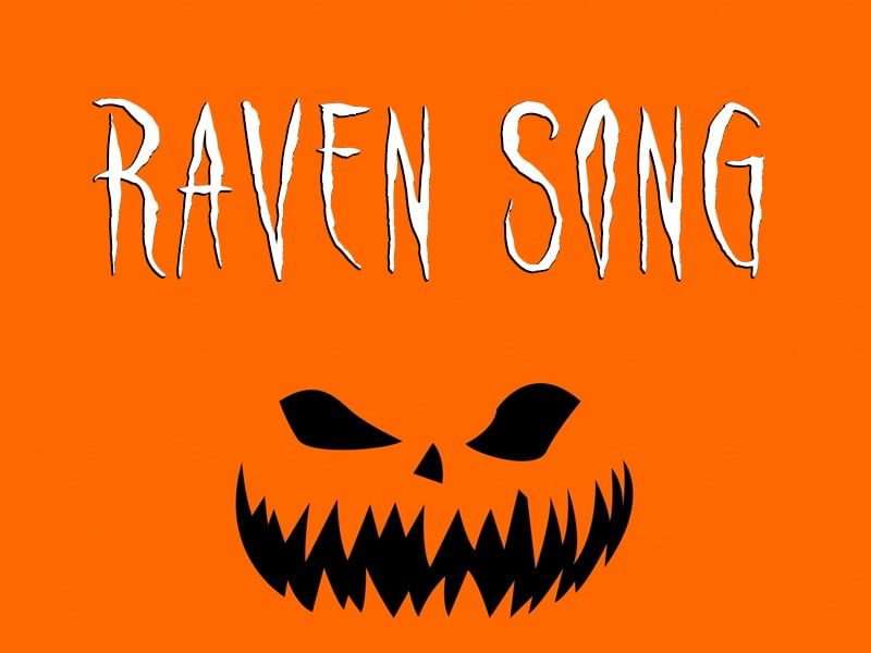Download raven song halloween font free in 2020 free