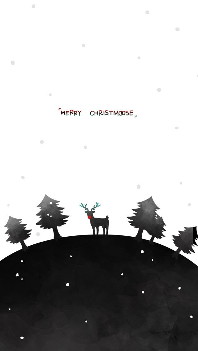 Tap Image For More Christmas Wallpapers Merry With Reindeer