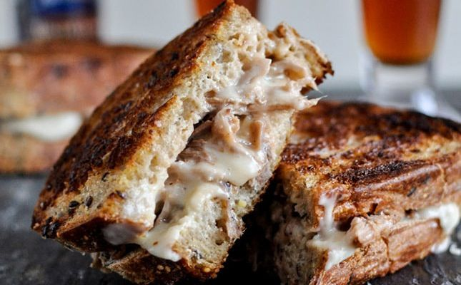 This Is NOT Your Average Grilled Cheese via Brit + Co.