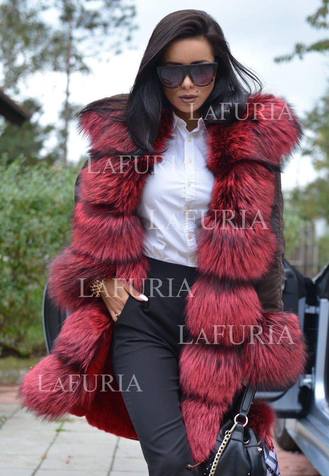 Fyne Girlz regarding new 2018 military parka coat hood fox fur clas sable mink
