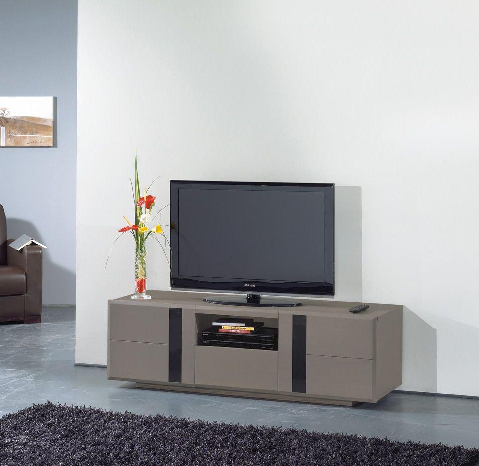S Jour Horizon Meuble Tv 1 Tiroir 1 Niche Largeur 110 Cm  # Quelle Hauteur Meuble Tv