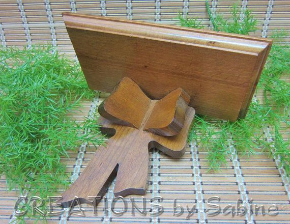 FREE SHIPPING Wooden Bow Wall Shelf, Brown Wood Medium Weight ...