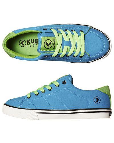 SURFSTITCH - FOOTWEAR - KIDS FOOTWEAR - BOYS FOOTWEAR - KUSTOM KIDS KRAMER SHOE - BLUE GREEN