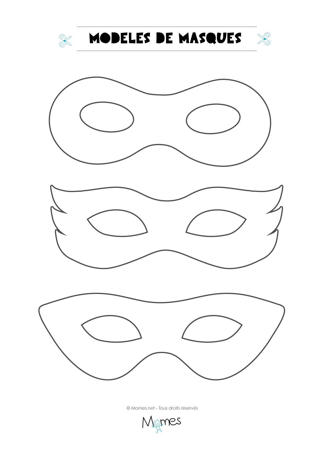 6 mod les de masques pour le carnaval gabarit carnaval - Coloriage a faire soi meme ...
