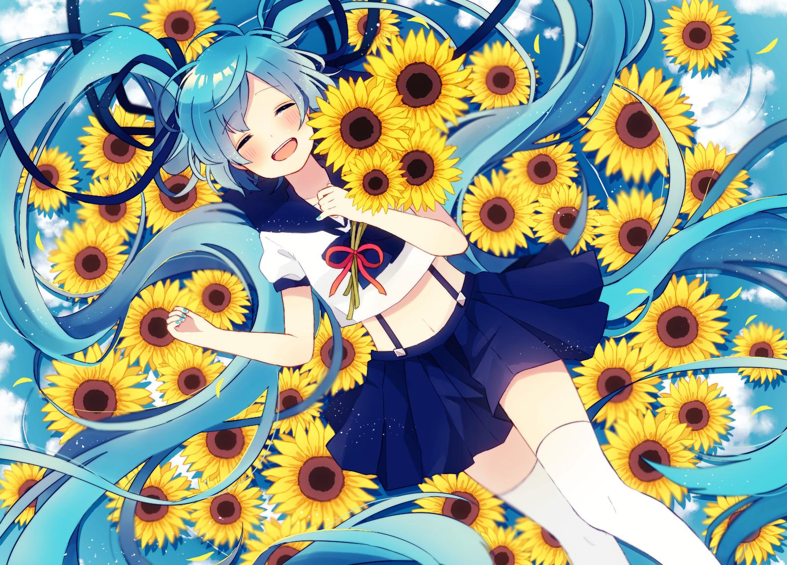 hatsune miku hatsune miku vocaloid anime artwork