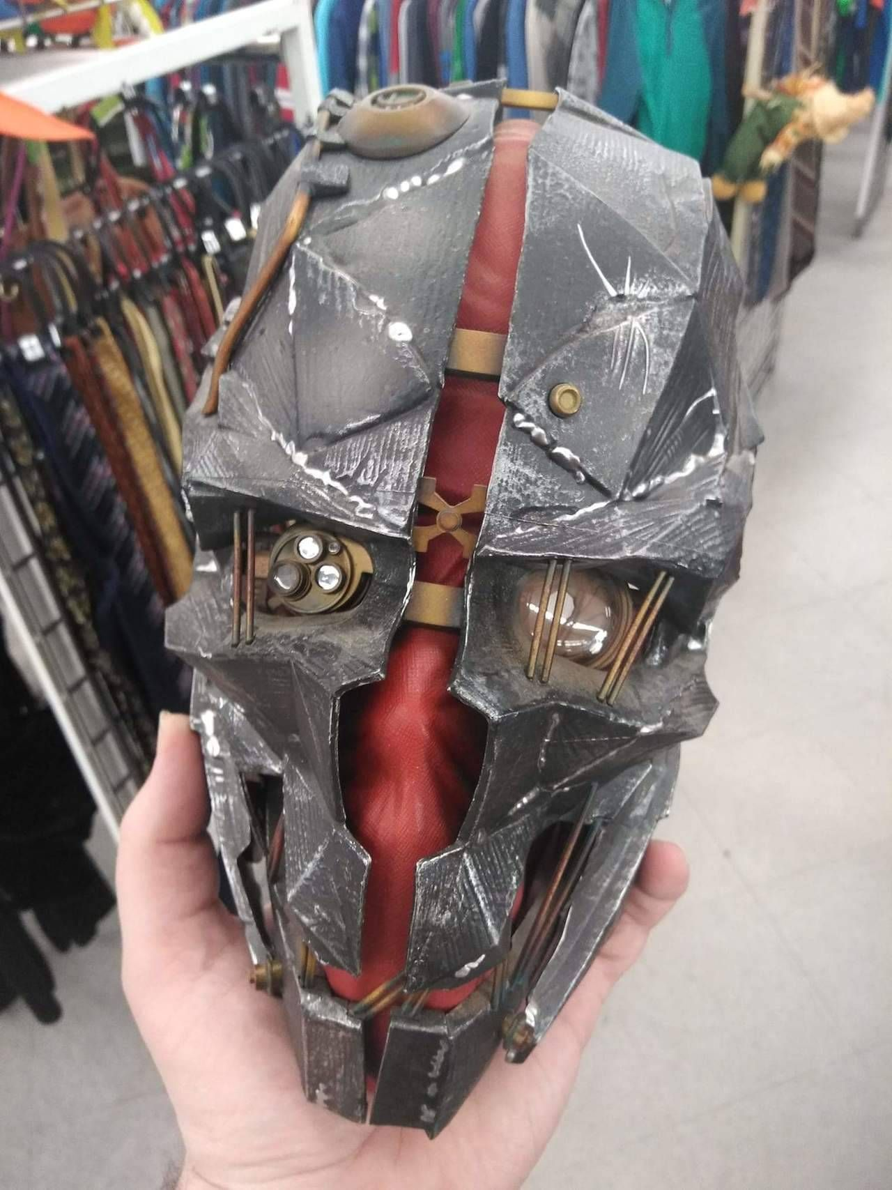 My friend found this mask at a thrift store for 3 he