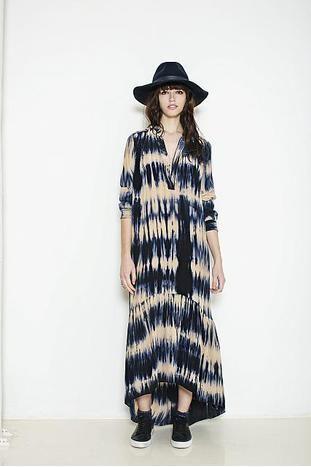 Blå Project AJ117 Faith batik kjole