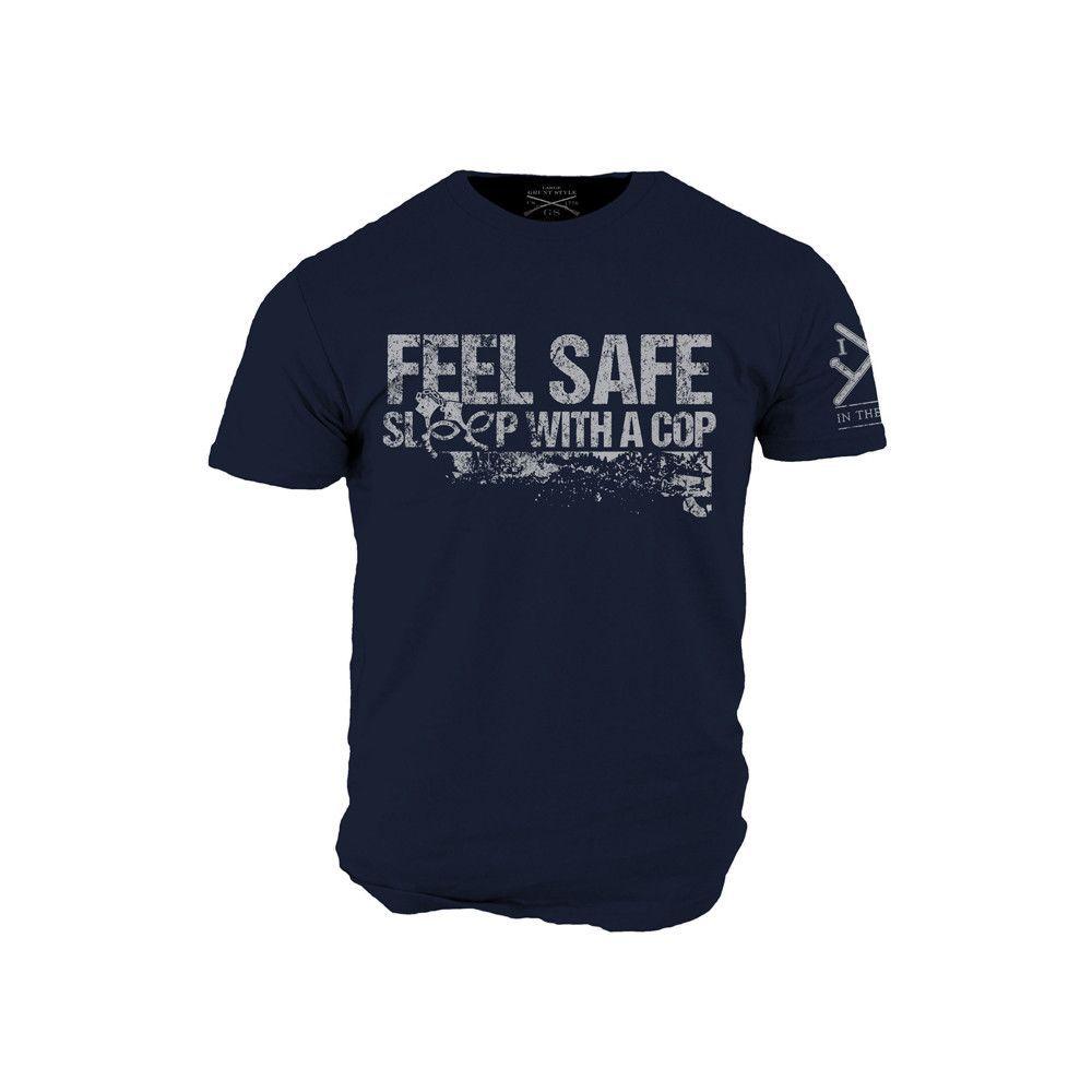 Feel Safe T-Shirt- Grunt Style ITA Men's Navy Blue Tee Shirt