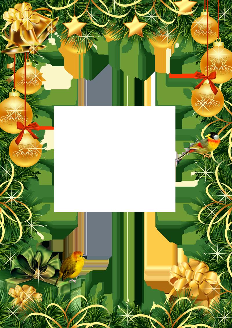 Рамки на открытках новогодние