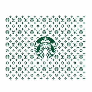 LV Starbucks Pattern SVG file available for instant