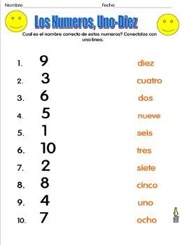 BUENAS:Number Recognition in Spanish 1-20 | $3-$5 ...
