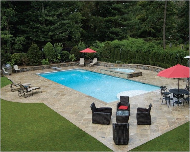 30 Marvelous Rectangle Pool Landscaping Ideas Inground Pool