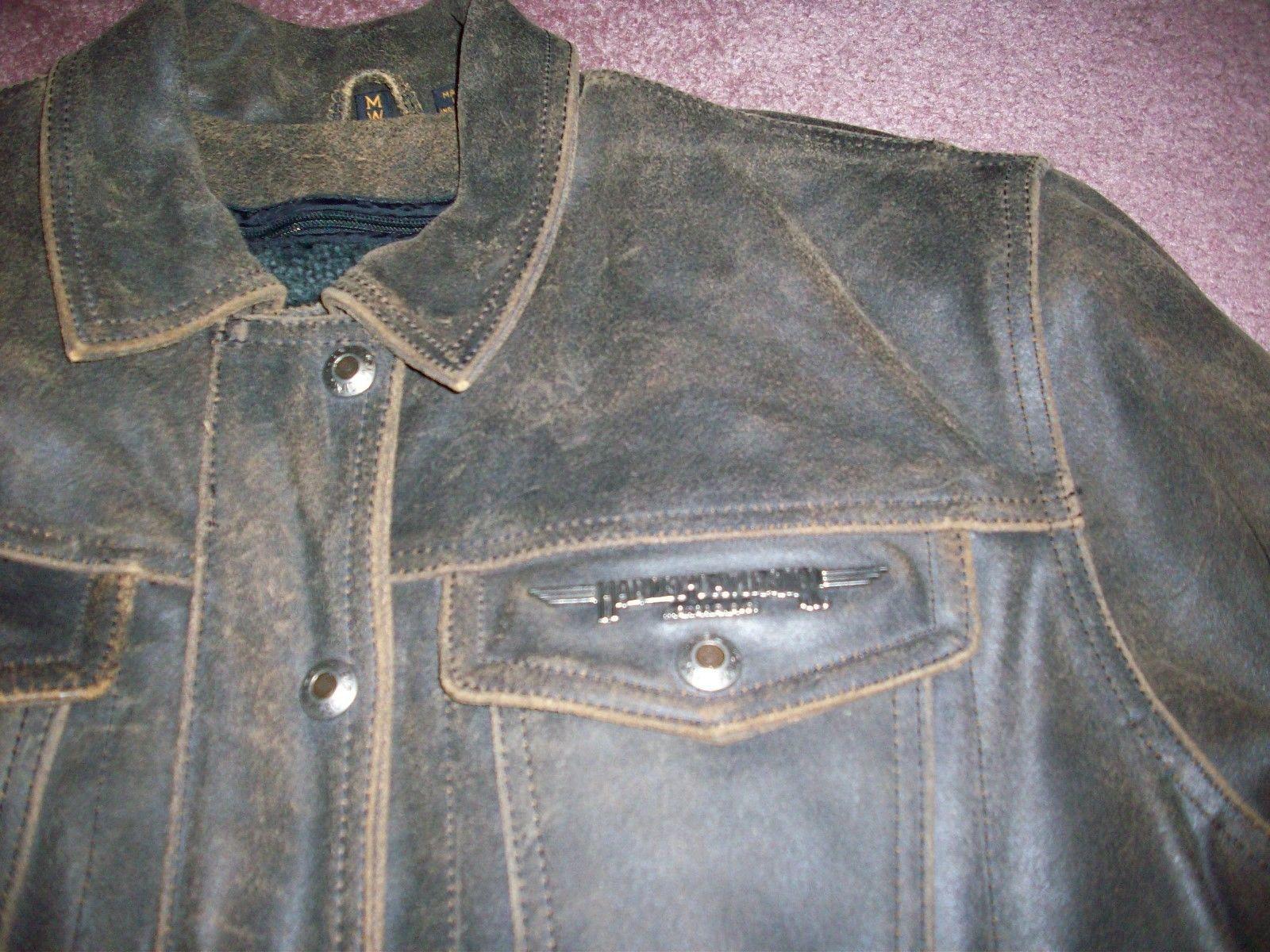 Harley Davidson Motorcycles Motor Clothes Leather Jacket Coat Womens ...