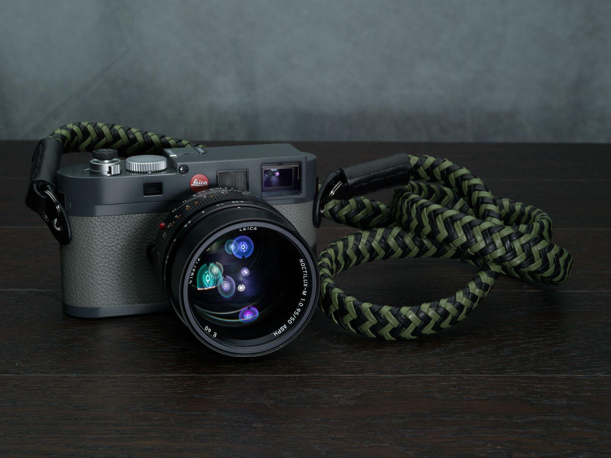 Black Lance Camera Straps Classic Non-adjust Cord Camera Neck Strap 48in
