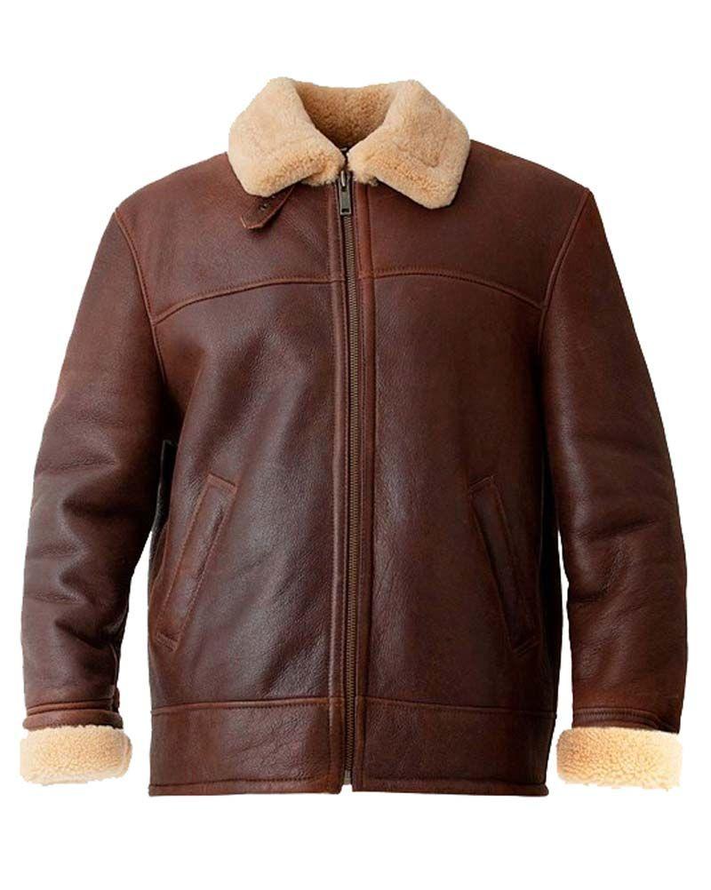 Brown Mens Aviator Jacket In 2020 Aviator Leather Jacket Leather Jacket Winter Outfits Men [ 1002 x 800 Pixel ]