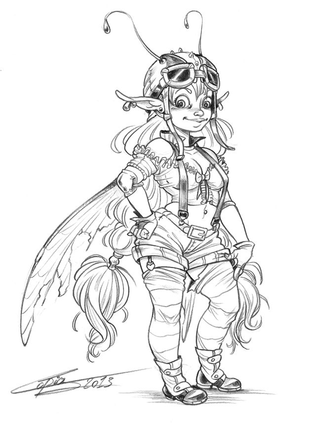 Airgirl fairy by ~Capia on deviantART | Steampunk Art | Pinterest ...