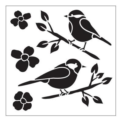 Birds Small Painting Stencils 30607 At The Home Depot Small