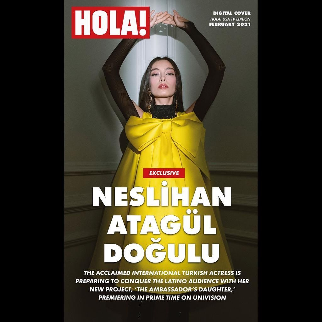 Neslihan Atagul Dogulu On Instagram Here You Are I M So Happy To Be On The Cover Of Holausa And Thanks Much To The Great Team In 2021 Usa Tv
